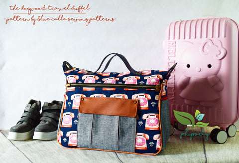 Dogwood Travel Duffel by Chera Phipody