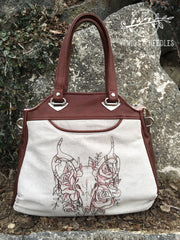 Twigs and Needles - Stargazer Tote in leather