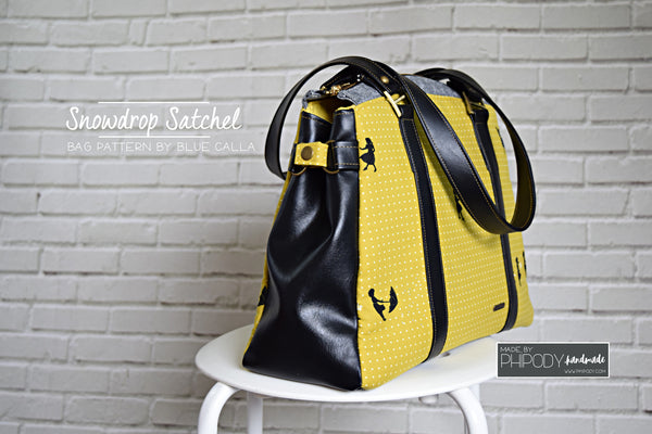 The Snowdrop Satchel in 2 sizes - PDF Sewing Pattern