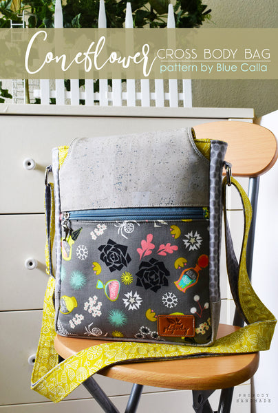 The Coneflower Cross Body bag - PDF Sewing pattern