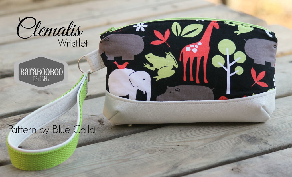 photograph about Free Printable Sewing Patterns Pdf identified as Free of charge The Clematis Wristlet - PDF Sewing Behavior Blue Calla