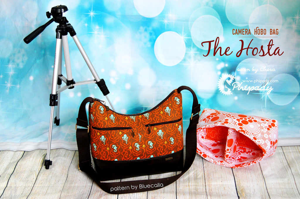 The Hosta Hobo Camera Bag - PDF Sewing Pattern
