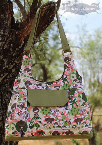 The Iris Convertible Shoulder Bag Pdf Sewing Pattern