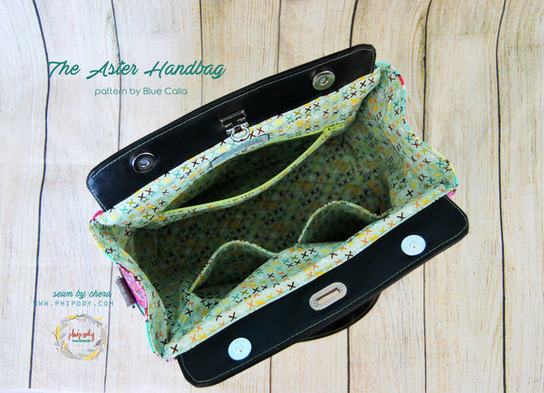 The Aster Handbag - PDF Sewing Pattern
