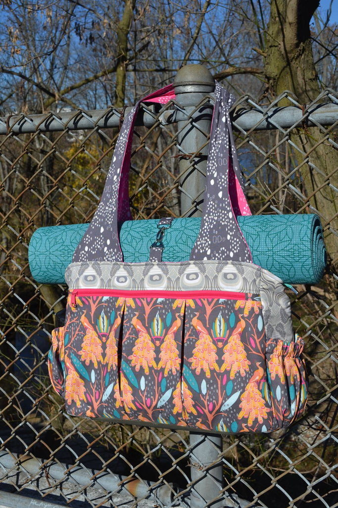 The Foxglove Bag - Fitness or Diaper bag - PDF Sewing Pattern – Blue ...