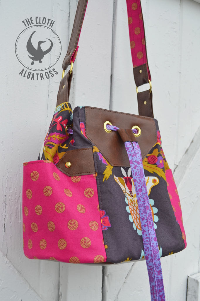 The Dahlia Drawstring Bucket Bag - PDF Sewing Pattern