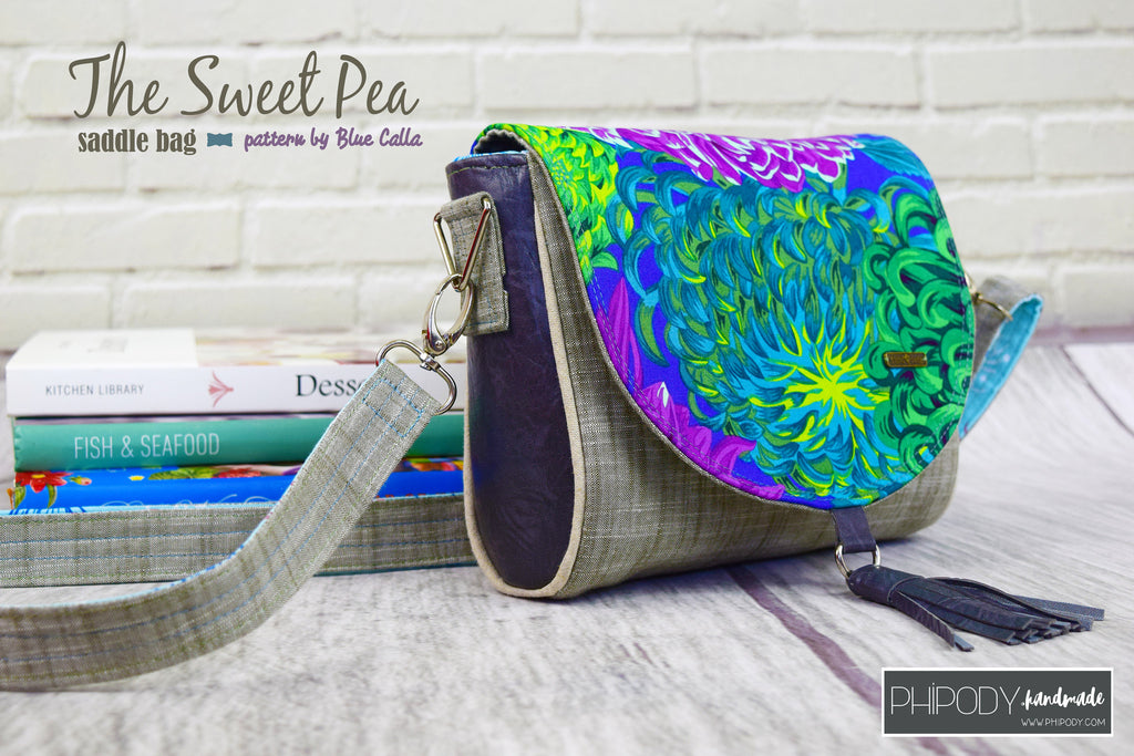 FREE The Sweet Pea Saddle Bag - PDF Sewing Pattern – Blue Calla Patterns