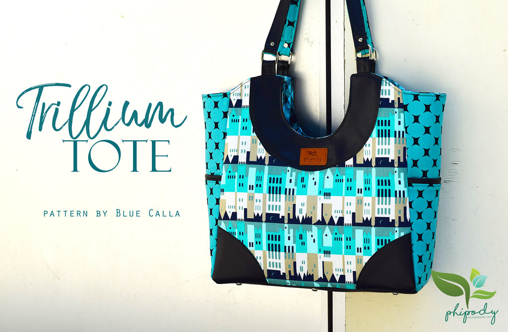 The Trillium Tote Bag - PDF Sewing pattern – Blue Calla Patterns
