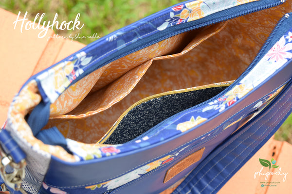 The Hollyhock Hobo Bag in 2 styles - PDF Sewing Pattern