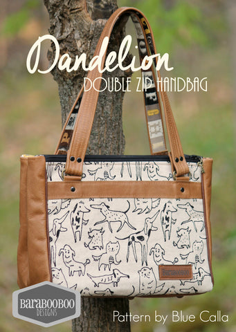 The Dandelion Double Zip Handbag - PDF Sewing Pattern