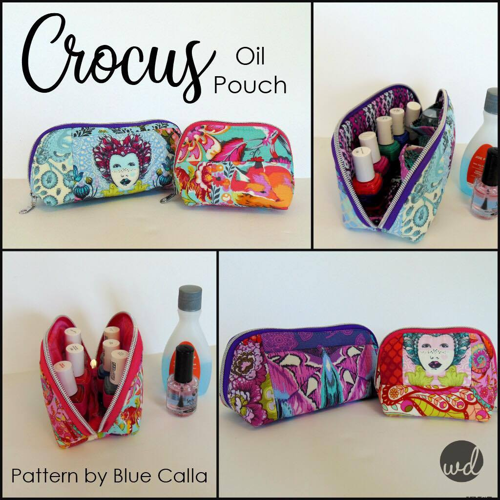 Free The Crocus Oil Pouch In 2 Sizes Pdf Sewing Pattern Blue Calla Patterns