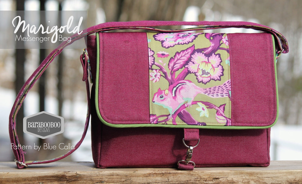 The Marigold iPad Messenger Bag - PDF Sewing Pattern – Blue Calla ...