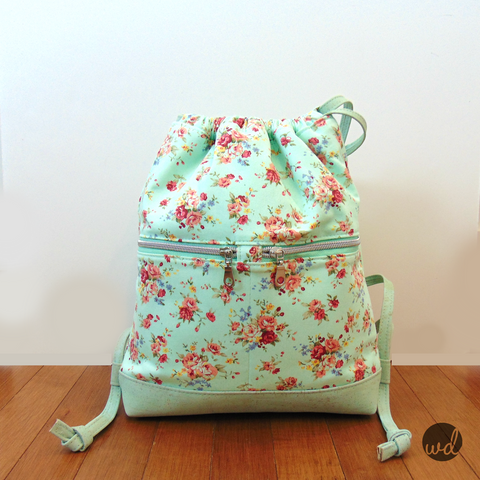 Begonia Drawstring Backpack - PDF Sewing Pattern