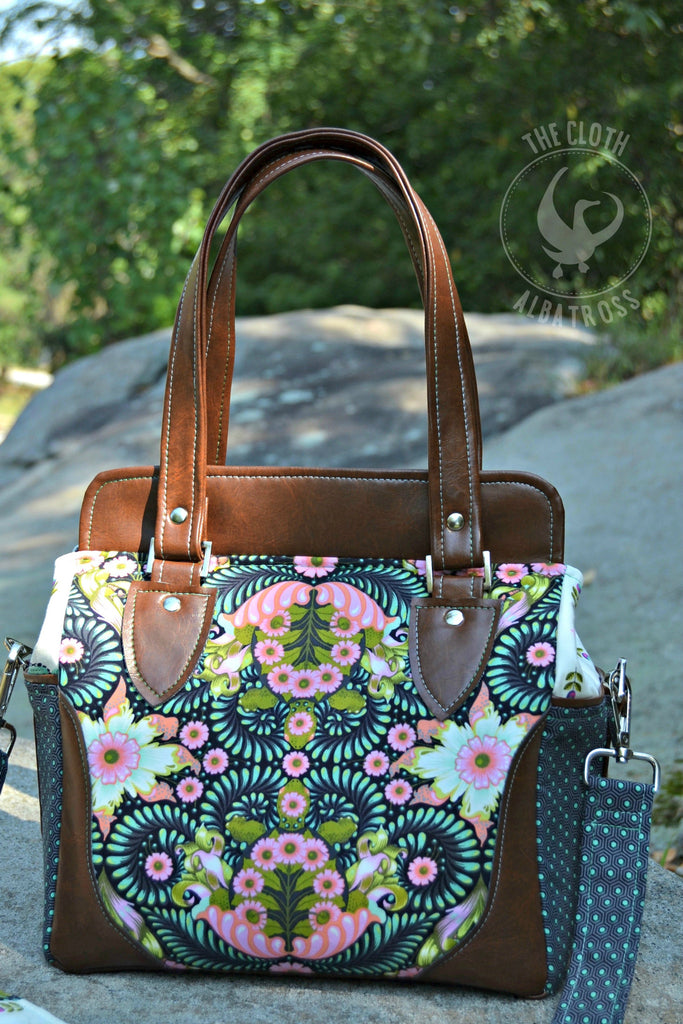 The Aster Handbag PDF Sewing Pattern Blue Calla Patterns Best Purse Patterns