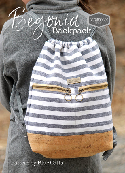 The Begonia Drawstring Backpack - PDF Sewing Pattern
