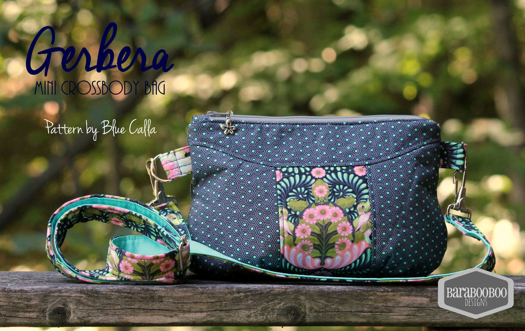 FREE The Gerbera Mini Crossbody Bag - PDF Sewing Pattern – Blue ...