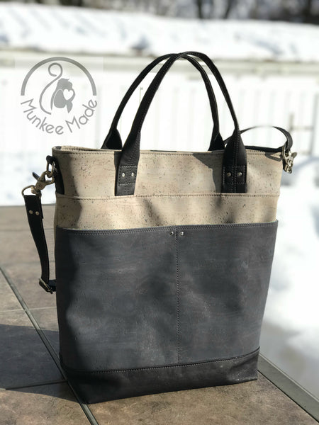 The Waterlily Waxed Canvas Tote - PDF Sewing pattern