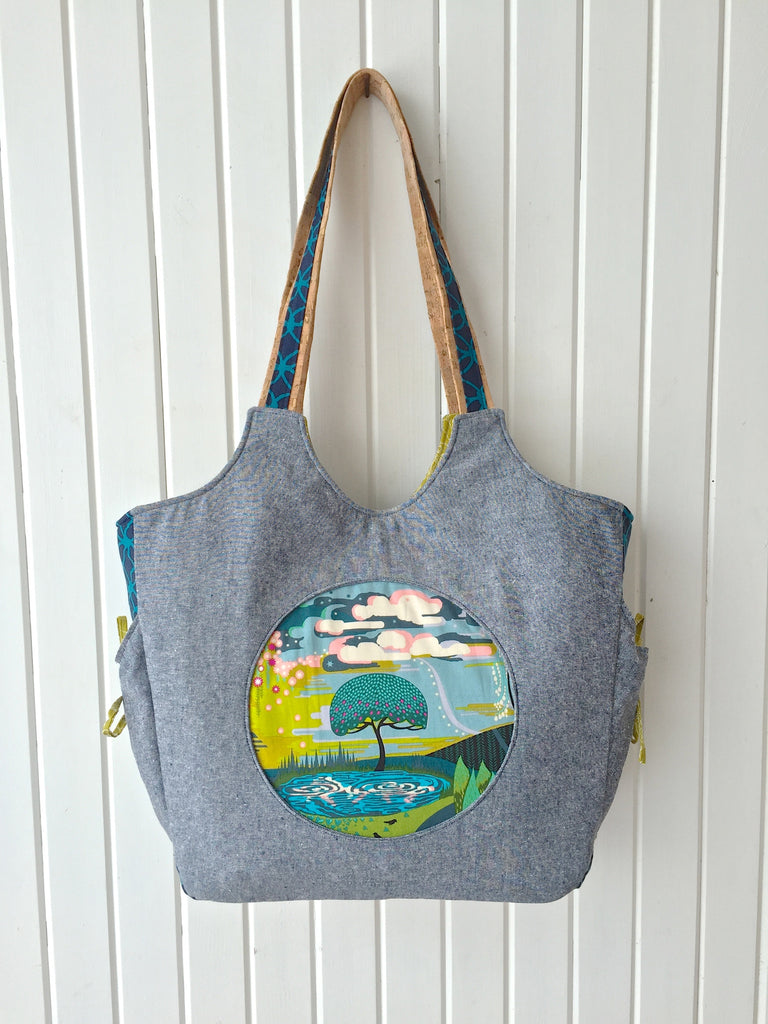 The Moonflower Tote bag - PDF Sewing Pattern