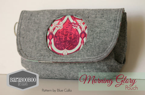 The Morning Glory Pouch - FREE PDF Sewing Pattern