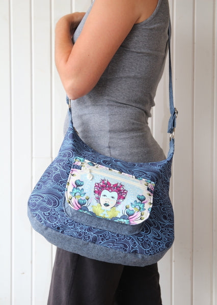 The Hydrangea Hobo Bag - PDF Sewing Pattern