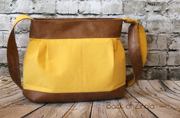 The Zinnia Zippered Panel Bag - PDF Sewing Pattern