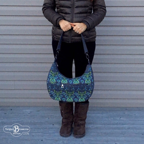 The Honeysuckle Hobo bag - PDF Sewing pattern