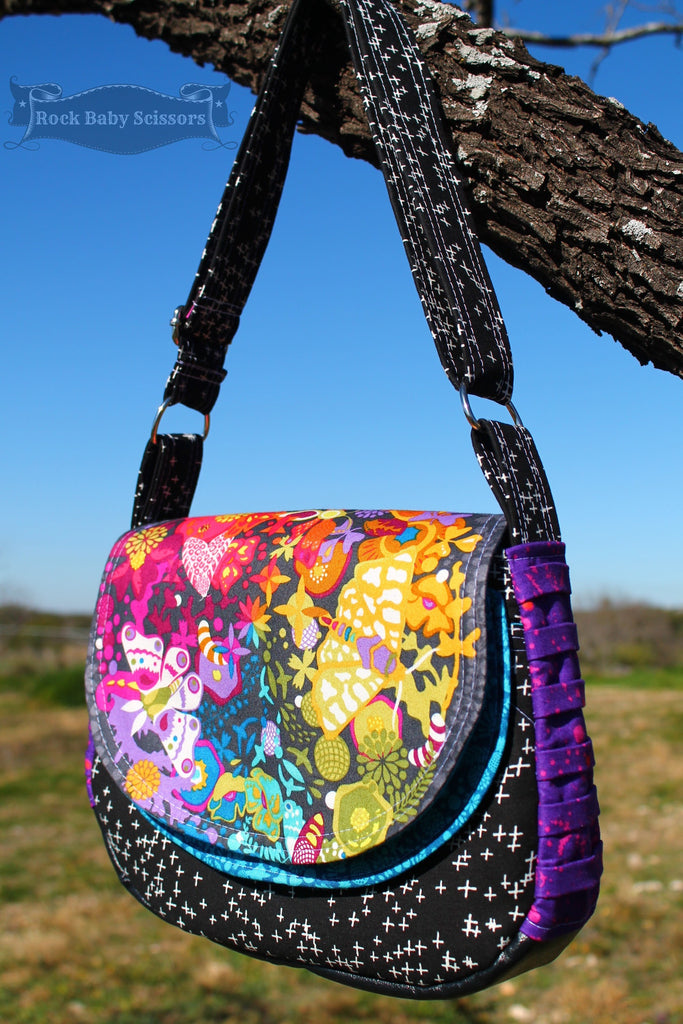 The Snapdragon Satchel Pdf Sewing Pattern Blue Calla