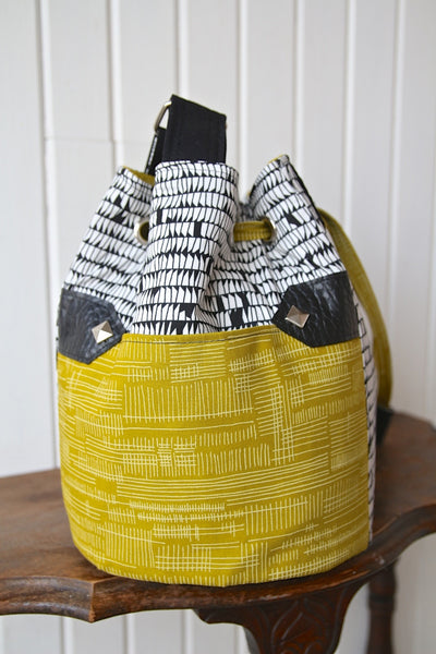 The Dahlia Drawstring Bucket Bag Pdf Sewing Pattern