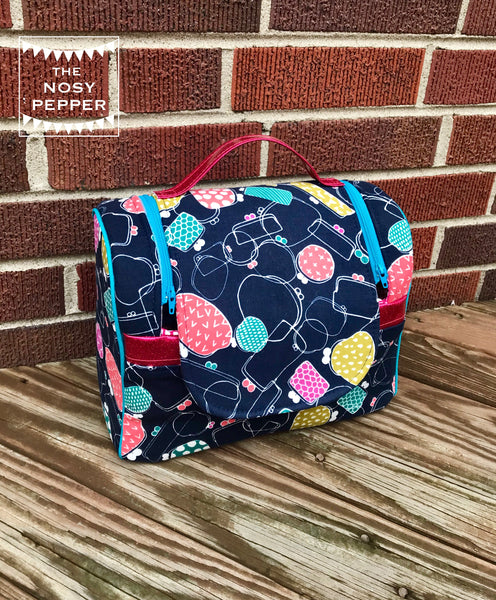 The Lavender Cosmetic Tote in 2 sizes - PDF Sewing Pattern