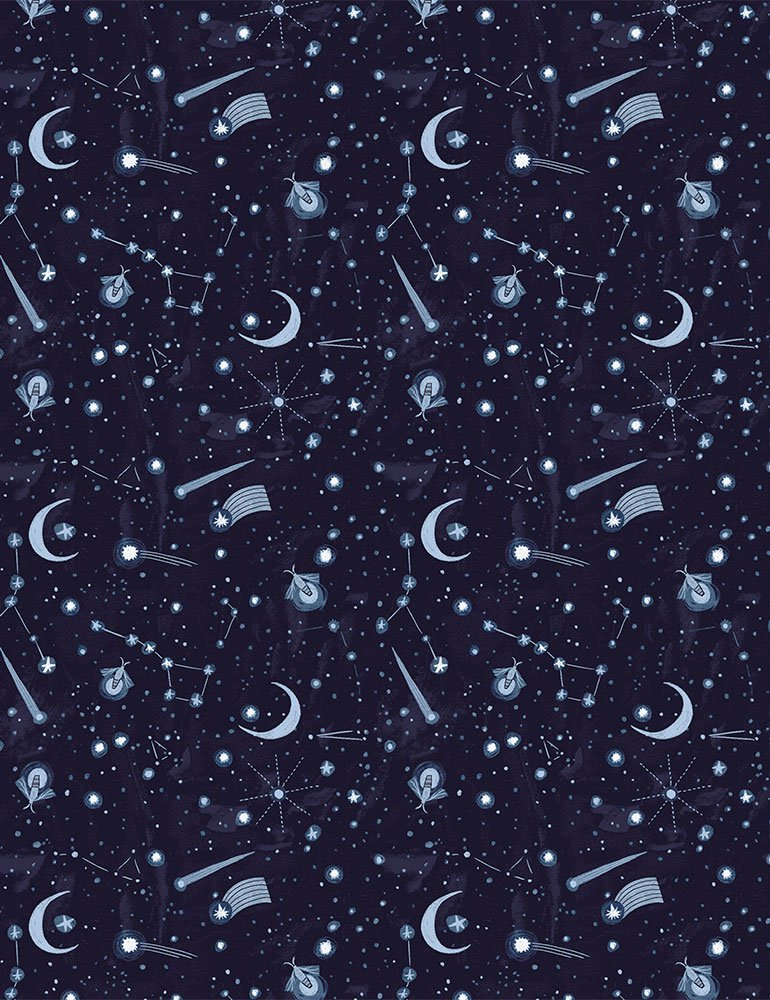 Lantern Lights by Rae Ritchie - Night Sky in Indigo COMING SOON!