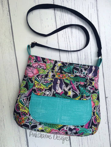 The Thistle Pocket Tote Cross Body Bag - PDF Sewing Pattern
