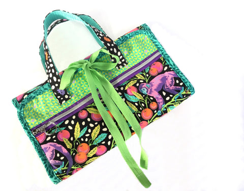 The Hibiscus Hanging Toiletry Bag - PDF sewing pattern