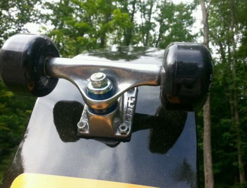 RTR Youth mini skateboard complete, with custom S B -skull decal, Carver  wheels