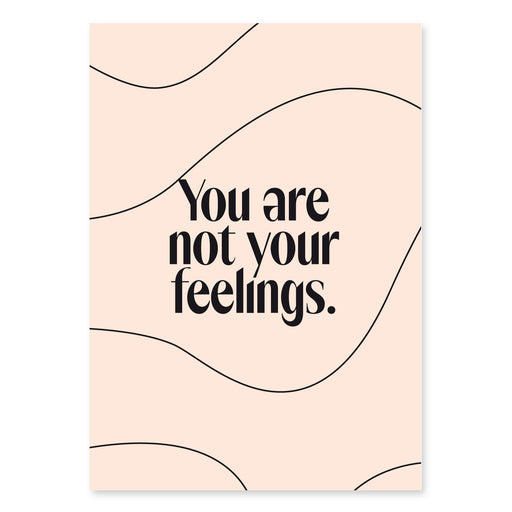 (Post)Karte - You Are Not Your Feelings