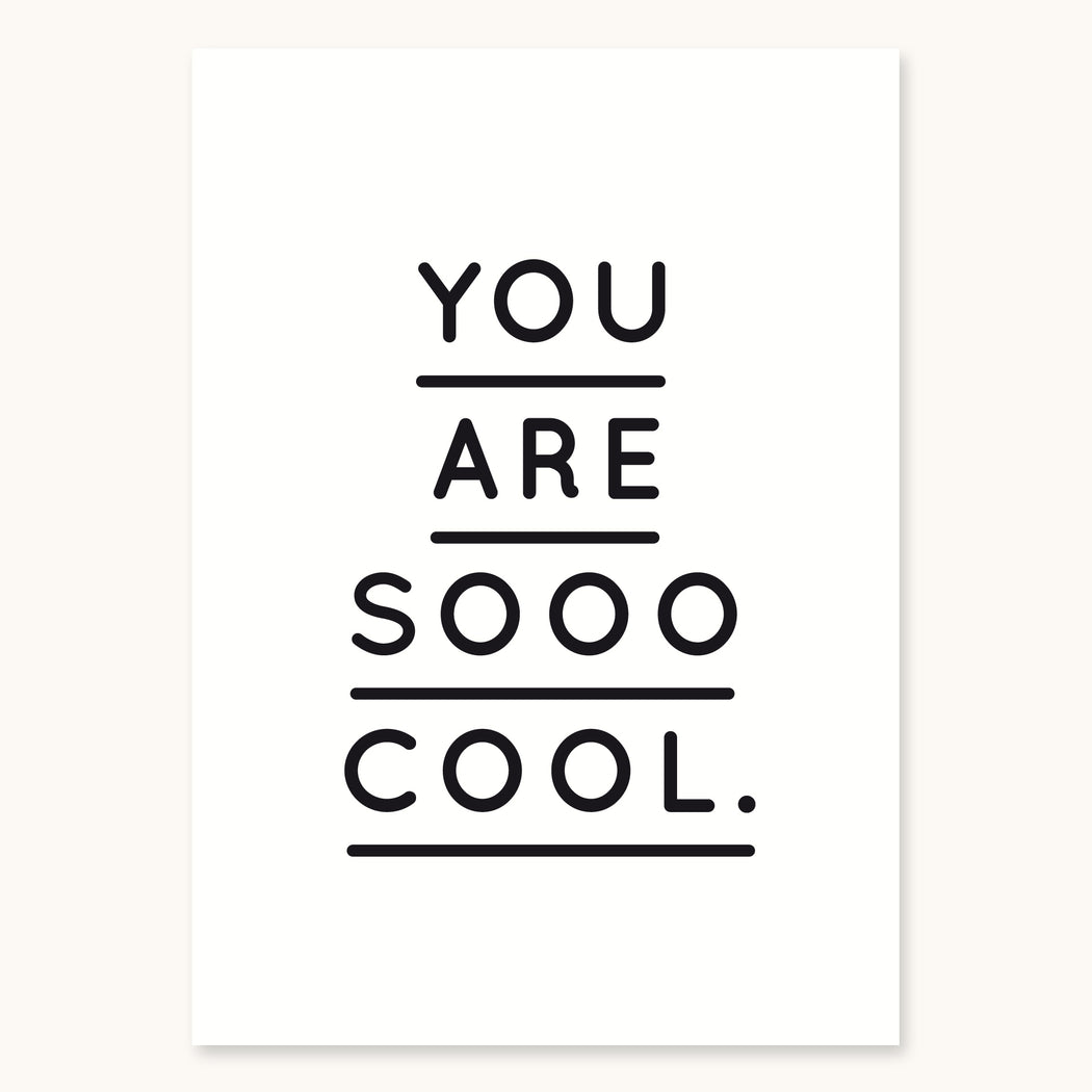 (Post)Karte - You are sooo cool - S/W