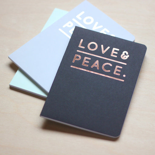 Notizheft - Love&Peace, DIN A6