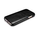FUTLEX Vintage Leather Folio Case for iPhone 7 - Black - Futlex