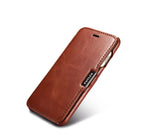 FUTLEX Vintage Leather Magnet Folio Case for iPhone 7 - Brown - Futlex