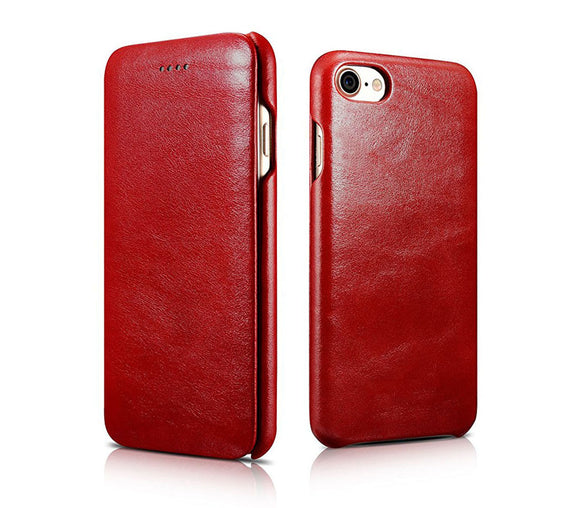 FUTLEX Vintage Leather Folio Case for iPhone 7 - Red - Futlex