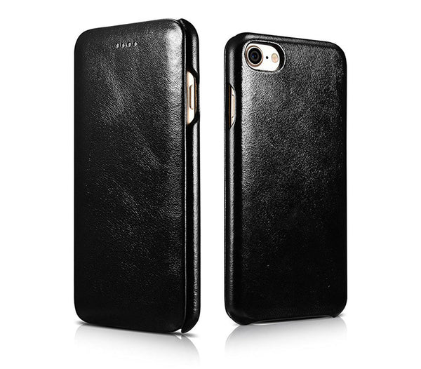 Vintage Leather Folio Case iPhone SE (2020) / 8 / 7 - Black