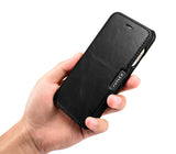FUTLEX Vintage Leather Magnet Folio Case for iPhone 7 - Black - Futlex