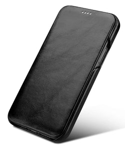 Vintage Leather Folio Case iPhone 12 mini - Black