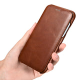 Vintage Leather Folio Case iPhone 11 - Brown