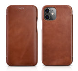 Vintage Leather Folio Case iPhone 12 mini - Brown
