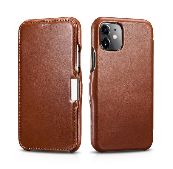Vintage Leather Magnet Folio Case iPhone 11 - Brown