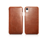 Vintage Leather Folio Case iPhone XR - Brown