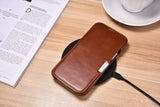 Vintage Leather Magnet Folio Case iPhone 12 mini - Brown