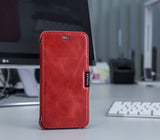 FUTLEX Vintage Leather Magnet Folio Case for iPhone 7 - Red - Futlex