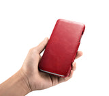 Vintage Leather Folio Case iPhone XR - Red