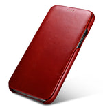 Vintage Leather Folio Case iPhone 11 - Red